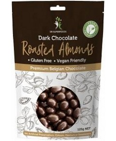 Dr Superfoods Roasted Almonds in Dark Chocolate 125g