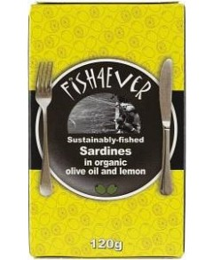 Fish 4 Ever Sardines in Olive Oil & Lemon 120g