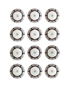 Bernardaud L'Art de la Table Last Supper Megaplex by Marco Brambilla Coupe Plates, Set of 12