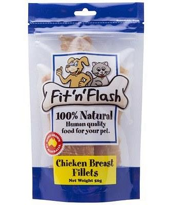 FIT 'N' FLASH CHICKEN BREAST FILLETS 50GM