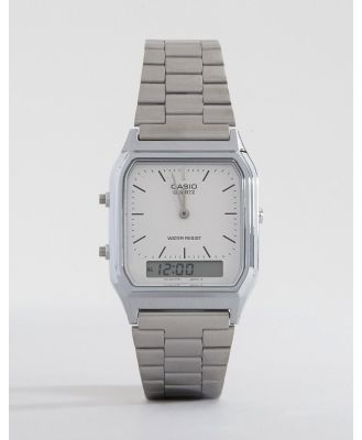 Casio AQ-230A-7DMQ Digital Bracelet Watch - Silver