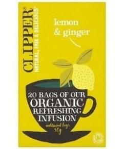 Clipper Organic Refreshing Infusion - Lemon & Ginger 20 Teabags