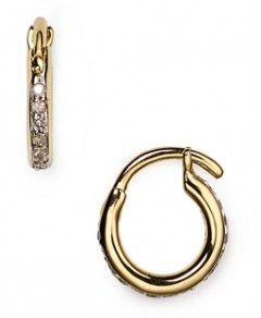 Adina Reyter Pave Huggie Hoop Earrings