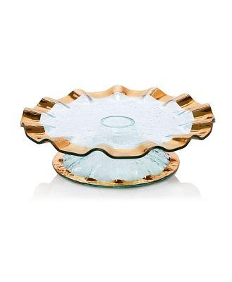 Annieglass Ruffle Cake Plate