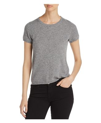C by Bloomingdale's Short-Sleeve Cashmere Sweater - 100% Exclusive