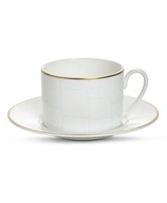Domenico Vacca by Prouna Alligator White Teacup & Saucer, 2 Piece Set