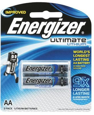 Energizer AA Lithium Battery 2 Pack