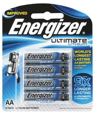 Energizer AA Lithium Battery 4 Pack