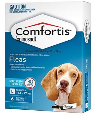 Comfortis Chewable Tablets for Dogs 18.1- 27KG Pack of 6