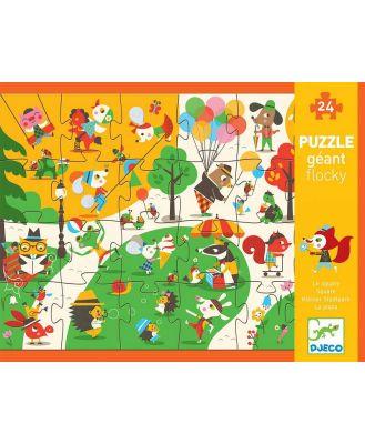 Djeco - Giant Flocky Puzzle-The Square (24pc)