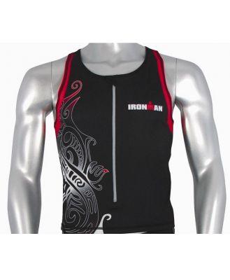 Ironman Mens Tri Top - Black/Red